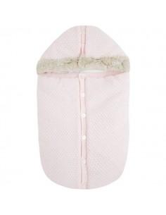Saco tricot Rosa baby